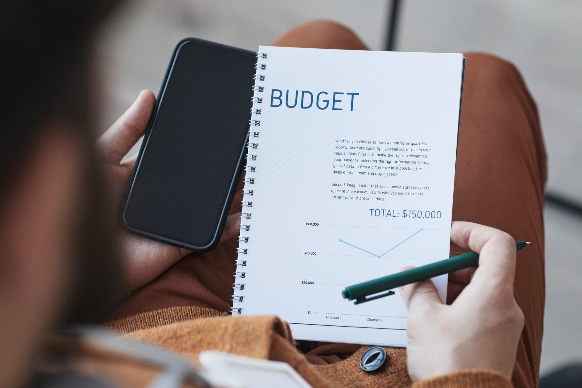 Businessman Planning Budget